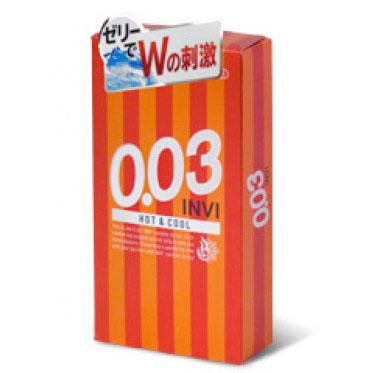Bao cao su siêu mỏng jex INVI 0.03 Hot & Cool